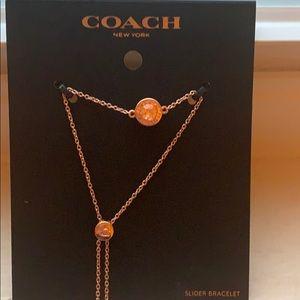 Coach slider bracelet